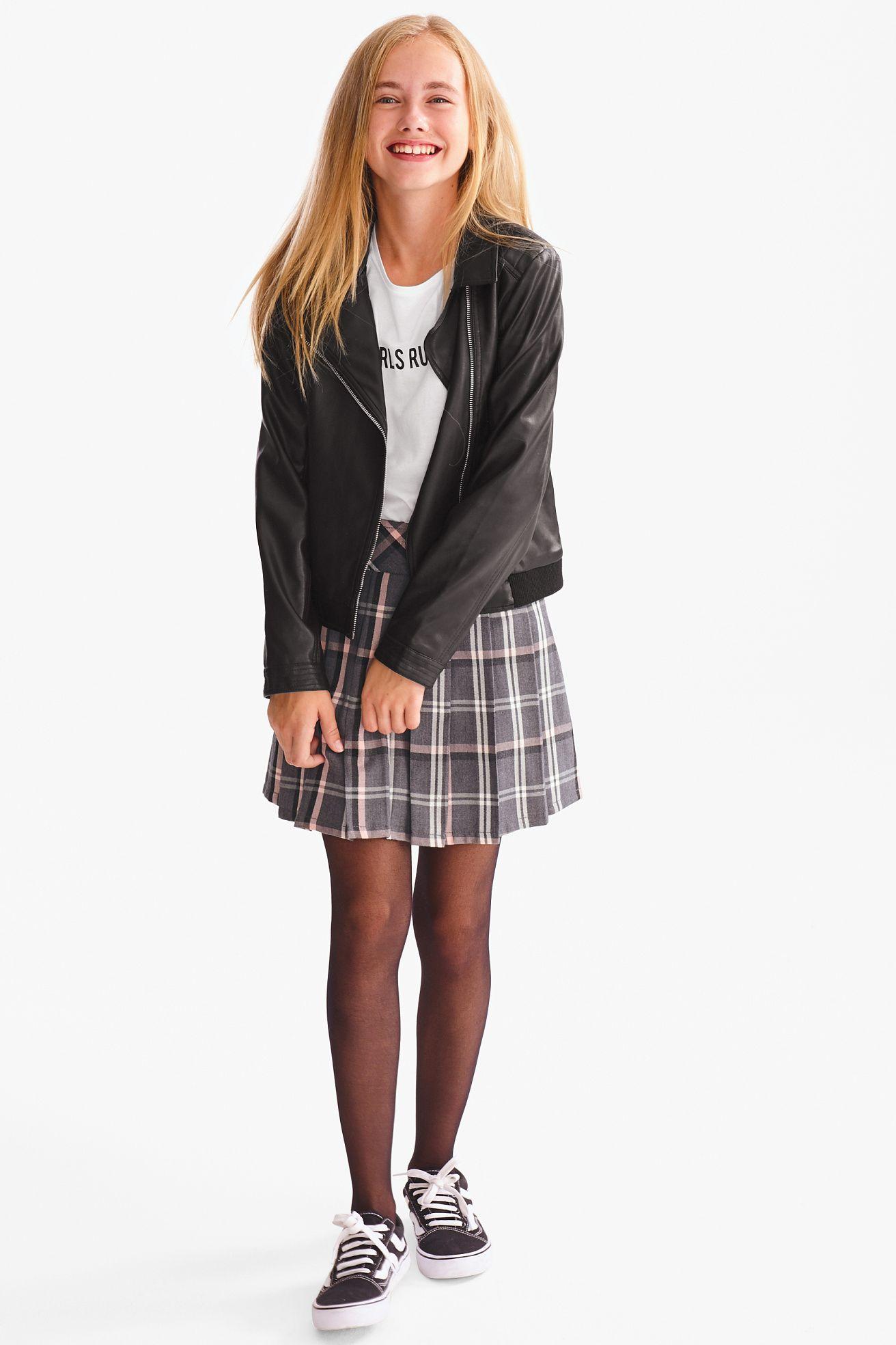 Rock Kariert C A Kinderbekleidung Madchen Strumpfhosen Outfit Kleid Fur Jugendliche
