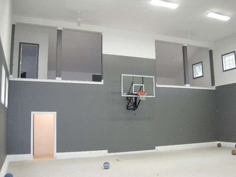 4 Car Garage Basketball Court Looks Like It Is Below Ground Indoor Basketball Court Home Basketball Court Trendy Home