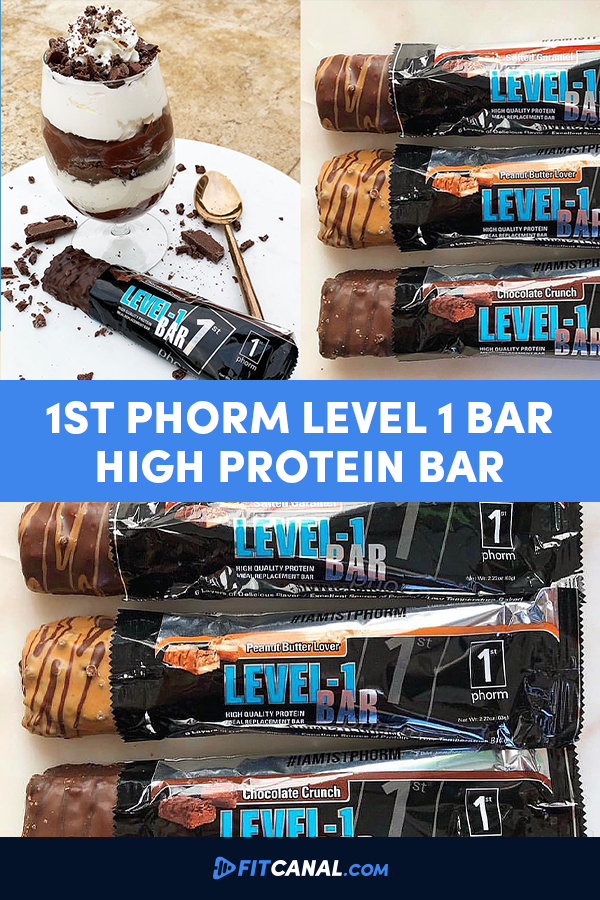 1st Phorm Level 1 Bar High Quality Protein Meal Replacement Bar Protein Meal Replacement Meal Replacement Bars Best Protein Bars