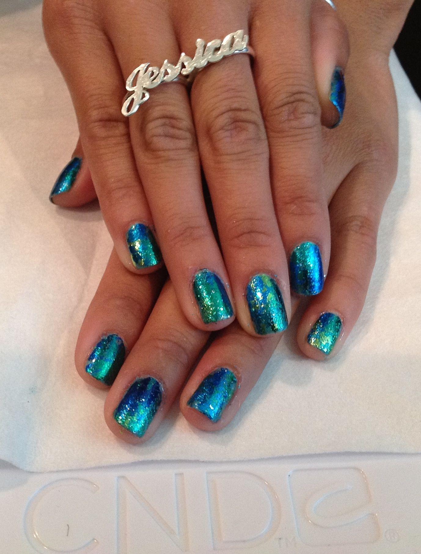 Shellac - Hotski to Tchotchke Foil for nail art | Shellac nail art ...