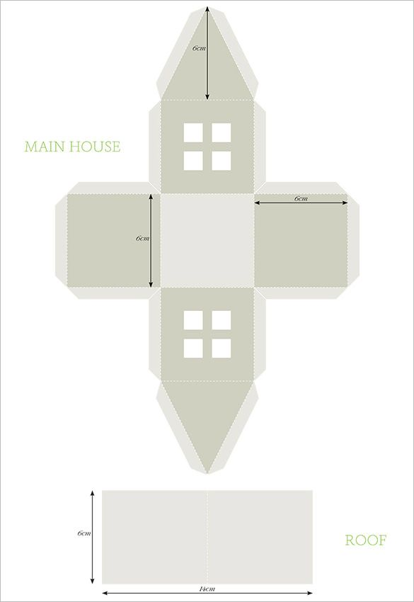 Paper House Template   Free Pdf Documents Download  Free