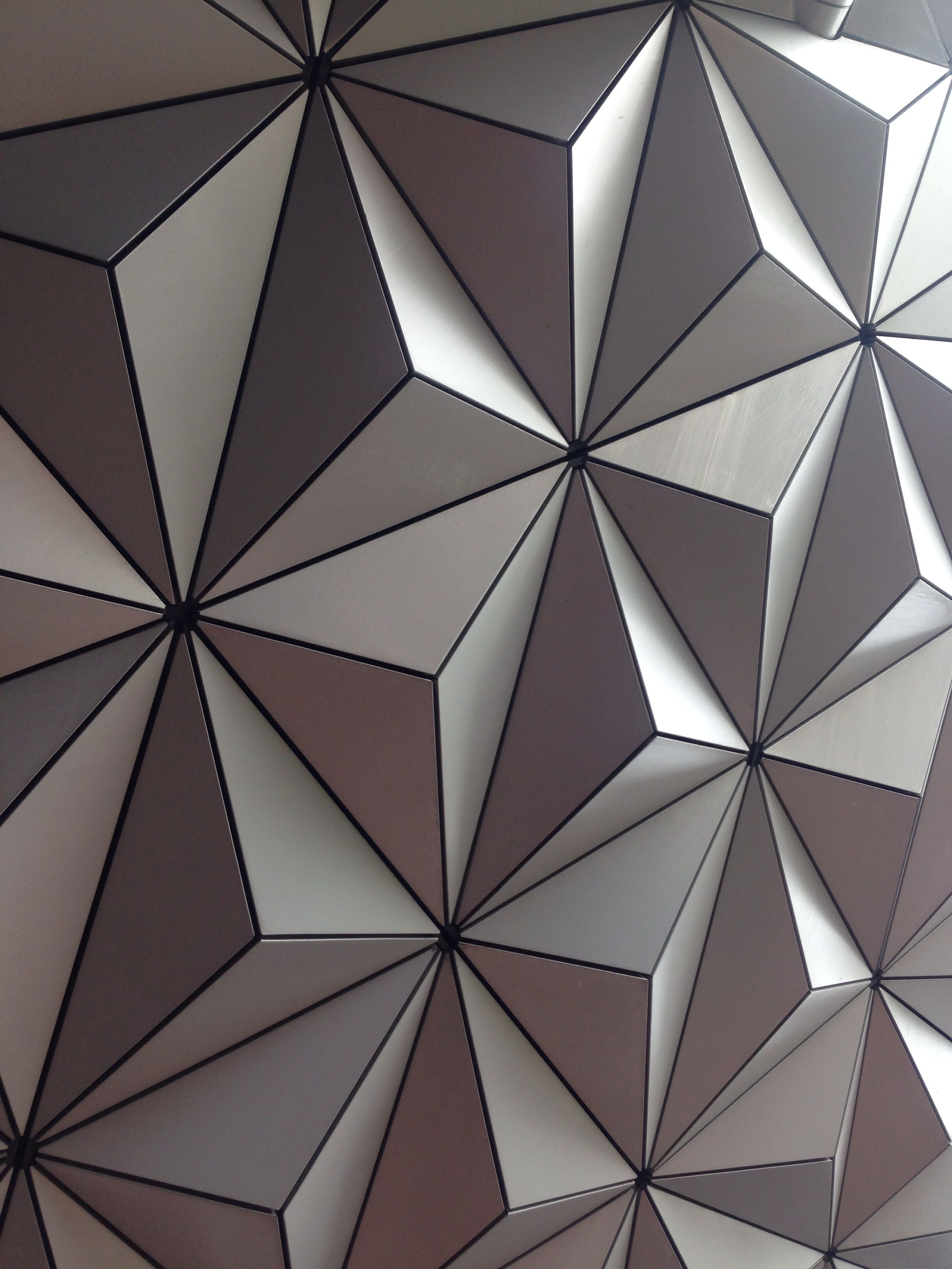 Epcot Globe Faceted Surface At Disney Textures Wall Design