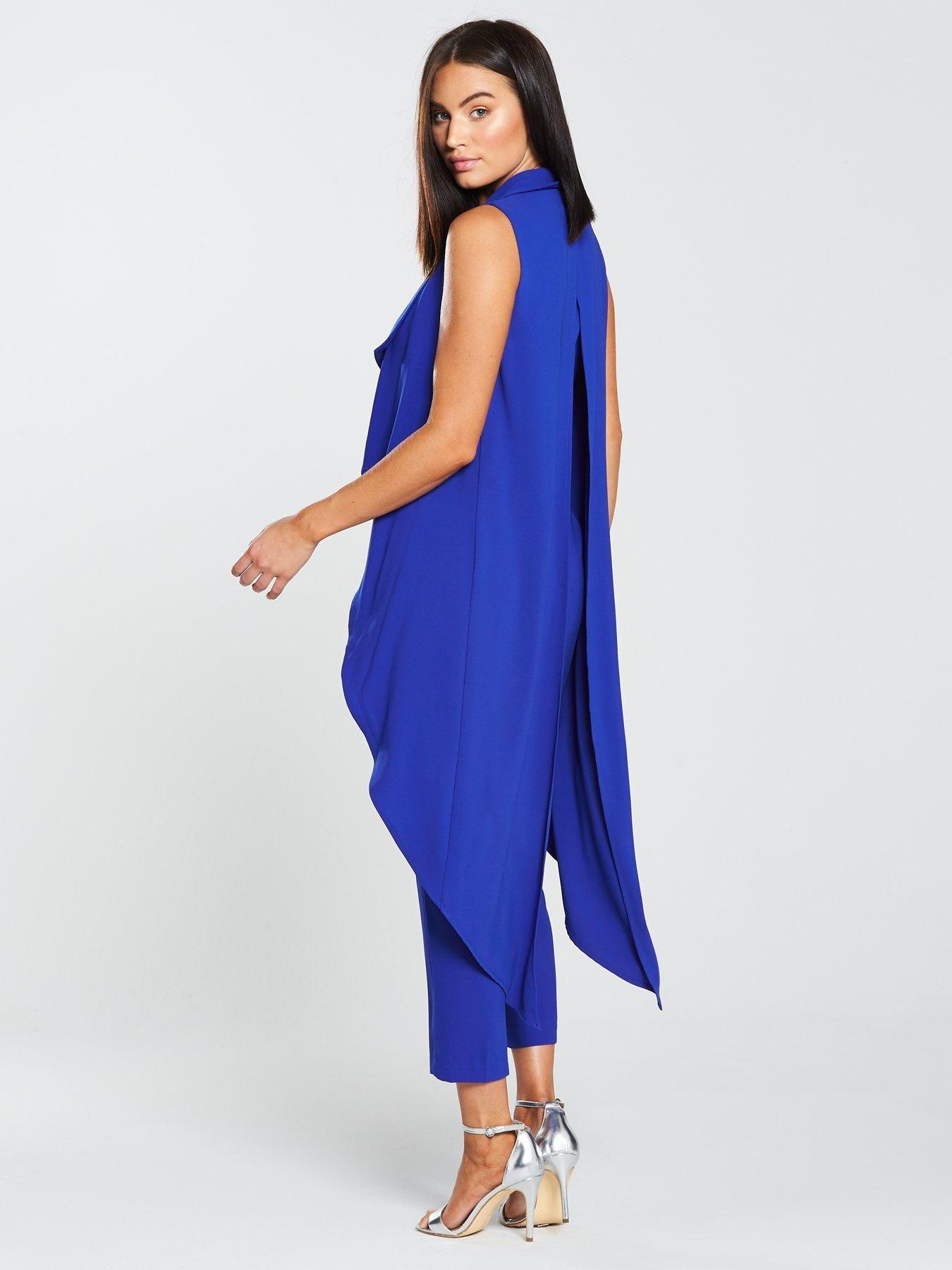 66840a020c Lavish Alice Waterfall Jacket Tailored Jumpsuit - Cobalt Blue