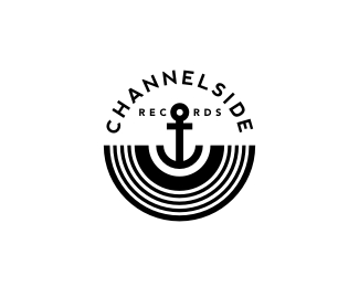 Channelside Records Logo Inspiration Gallery | More logos http://blog.logoswish.com/category/logo-inspiration-gallery/ #logo #design #inspiration