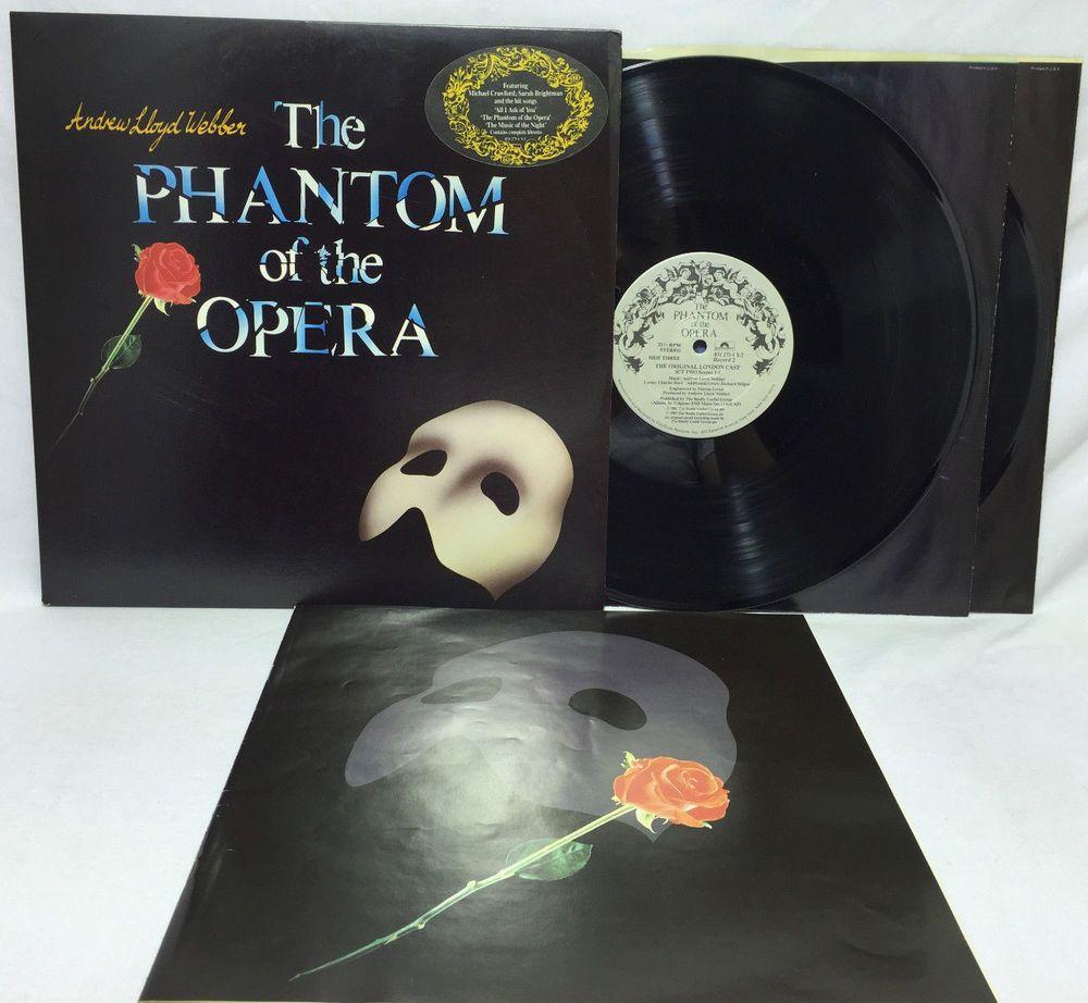 Phantom Of The Opera Broadway Soundtrack Lp Lloyd Webber Vinyl