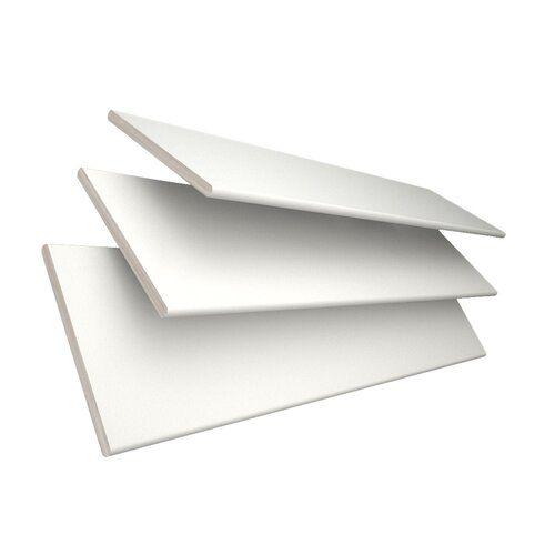 Jalousie Transparent Ebern Designs Ausführung: weiß, Größe: 200 cm L x 45 cm B