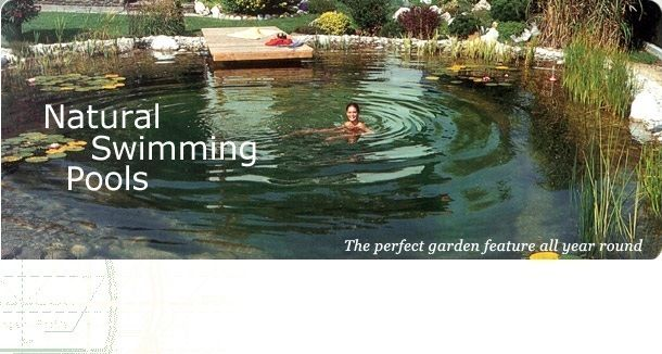 A biopool no chemicals eco friendly and beautiful uses plants to naturally clean the water for Natural swimming pool australia