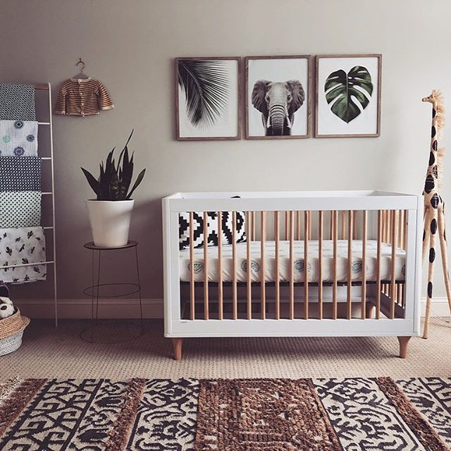 """Project Nursery on Instagram: """"Welcome to the jungle (nursery)! We're digging this modern take on a classic theme."""
