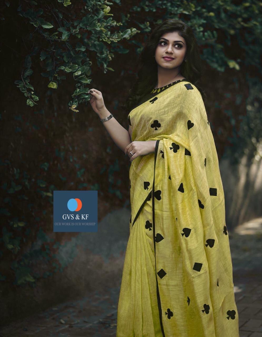 213239d470d9e8 Glamorous Yellow Color Festival Wear Chanderi Silk Saree in 2019 ...