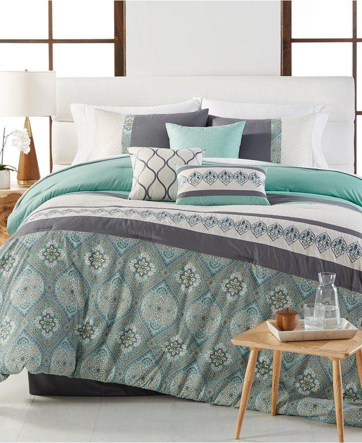 Hampton 7 Pc Queen Comforter Set Bedding Full Comforter Sets