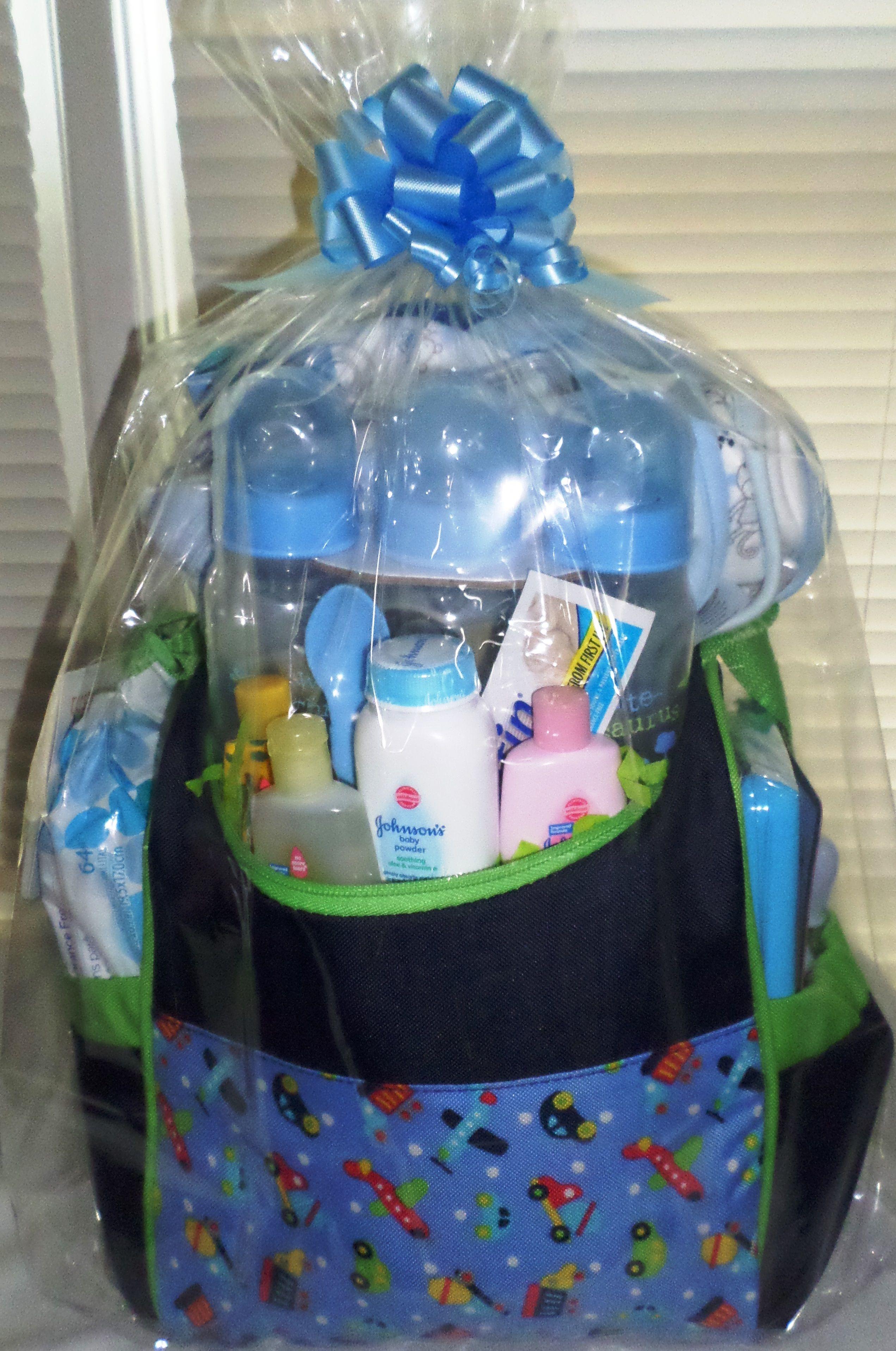 Blue Baby Shower Basket