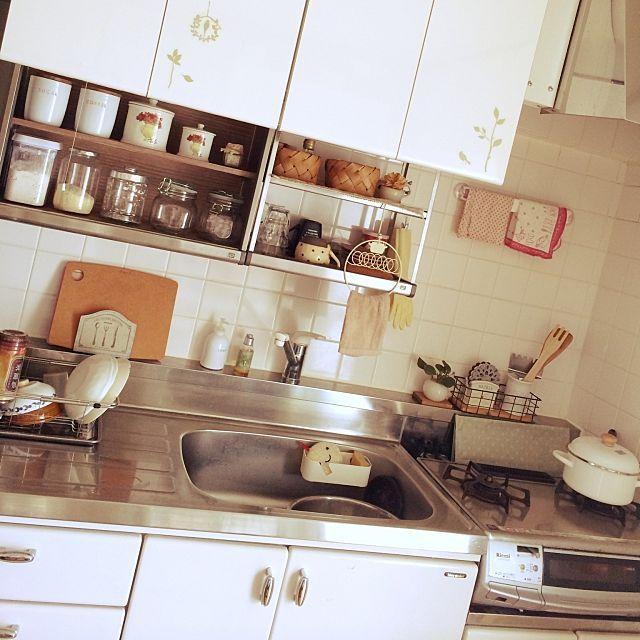 団地キッチンで シンプルライフを楽しむ 団地キッチン キッチン