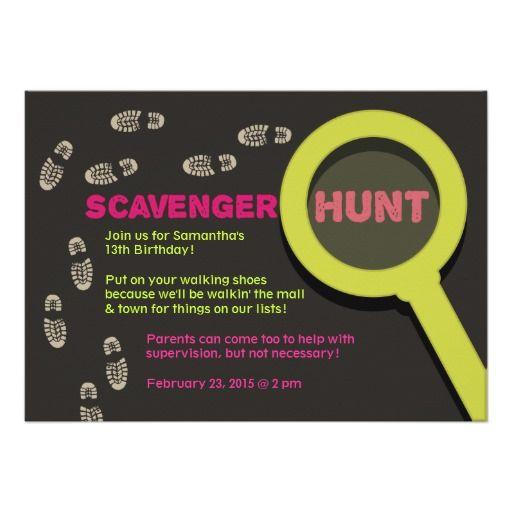 Nice scavenger hunt birthday party invitations free printable nice scavenger hunt birthday party invitations filmwisefo Images