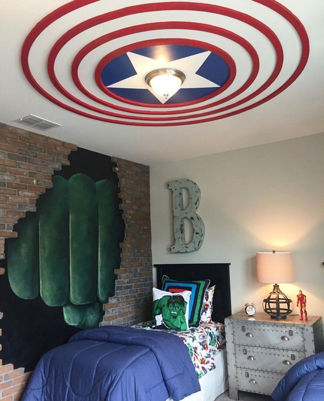 Kids Room Marvel Bedroom Marvel Room Superhero Room