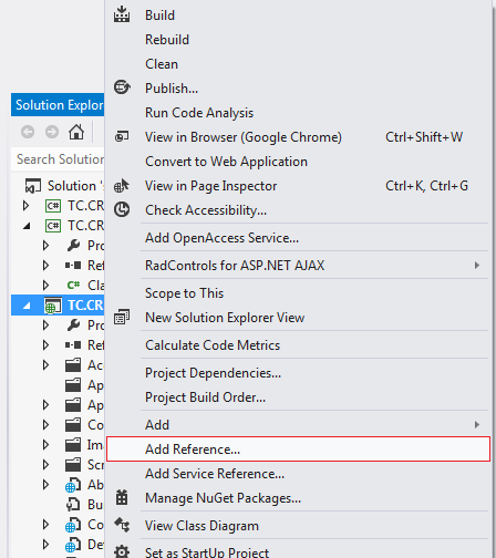 Add Reference in 2019 Web application, Net framework