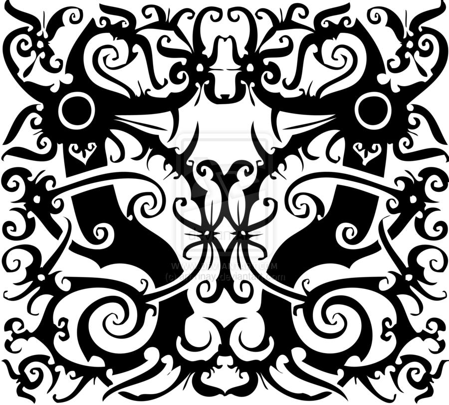 Tracing Indonesian Dayak Pattern by artrinay.deviantart