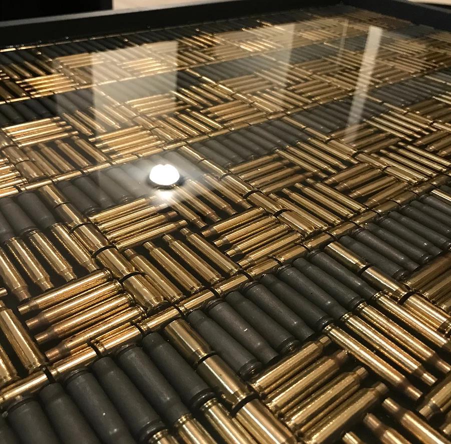 Bullett Casing Coffee Table Ryanwrobelart Bullet Casing Crafts Bullets Decor Diy Resin Table