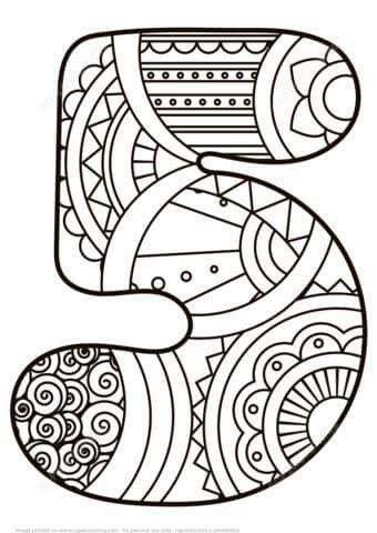 Pin de Magali Castro en Para colorear | Pinterest | Números, Número ...