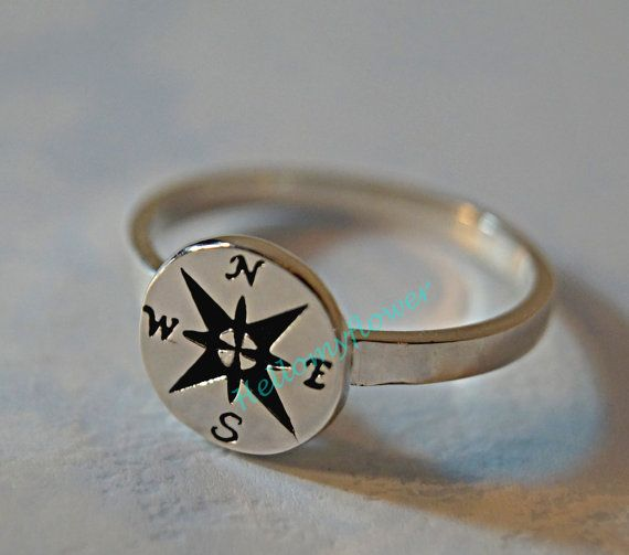 Compass ring compass jewelry jewelry compass by Hellomyflower