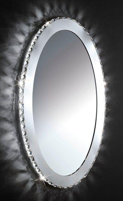 The Eglo Toneria Led Oval Illuminated Mirror As A Chrome