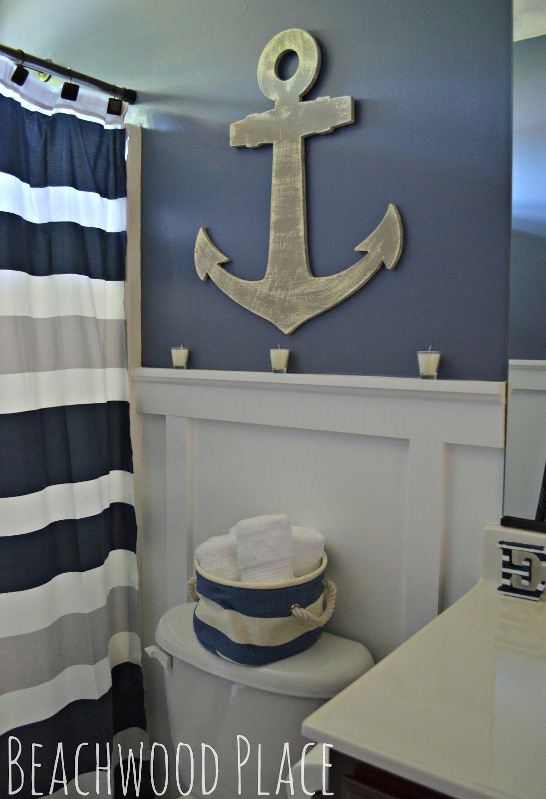 Nautical Bathroom  Nautisches badezimmer, Ideen zum selbermachen