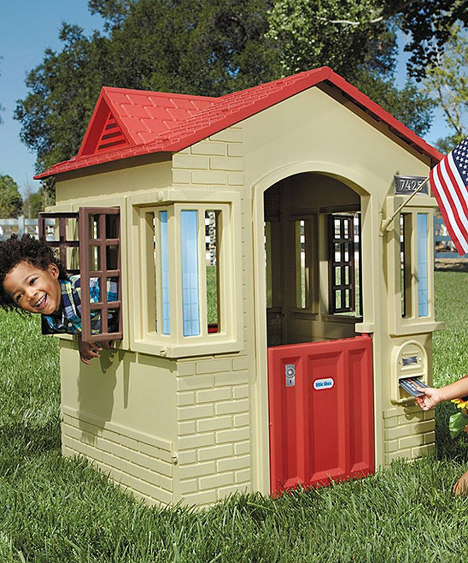 This Cape Cottage Playhouse by Little Tikes is perfect!