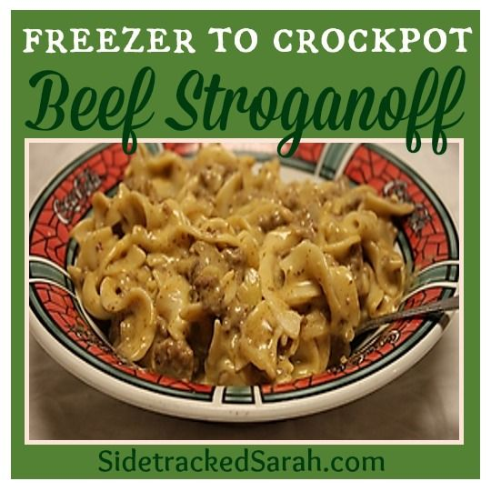 The BEST Slow Cooker Ground Beef Stroganoff