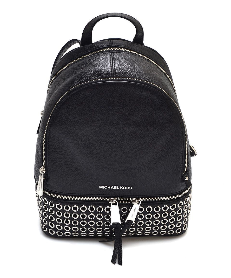 82ed980518f293 Michael Kors Black Grommet Leather Backpack by Michael Kors #zulily # zulilyfinds