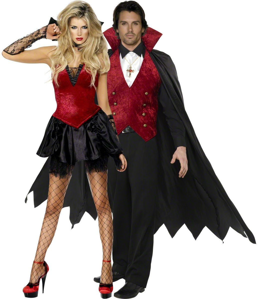 Witch Couple Costumes / Scary Sorcerer and Sorceress Halloween ...