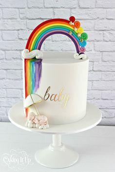 Rainbow Cake Cakes Baby Shower More