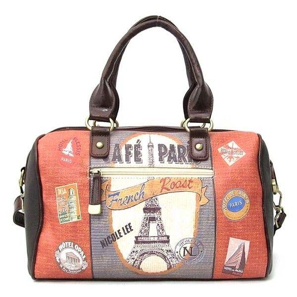Nicole Lee Gitana Handbag Cafe Paris Purse Vintage Boston Bag 88 Aud Liked On Polyvore Featuring Bags Handbags White