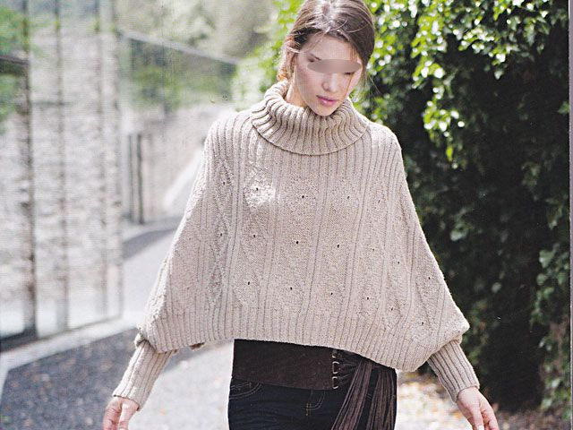 modele tricot poncho adulte