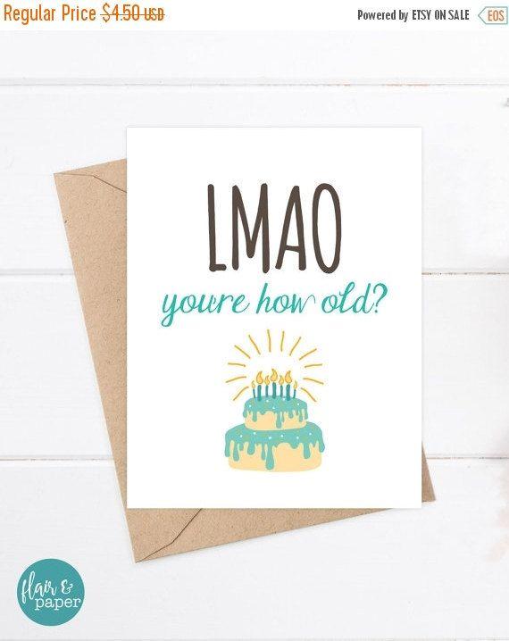 Funny Birthday Card Funny Sister Birthday Card Funny Friend