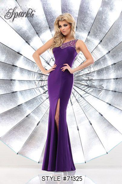 Style #71325 #prom #dress #promdress #purple #jeweled   Q-ute ...