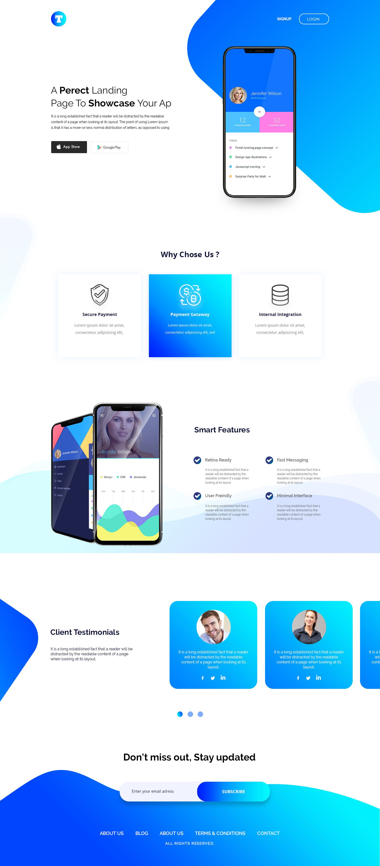Check Out My Behance Project Mobile App Landing Page Https Www Behance Net Gallery 65834353 Best Landing Page Design Best Landing Pages App Landing Page
