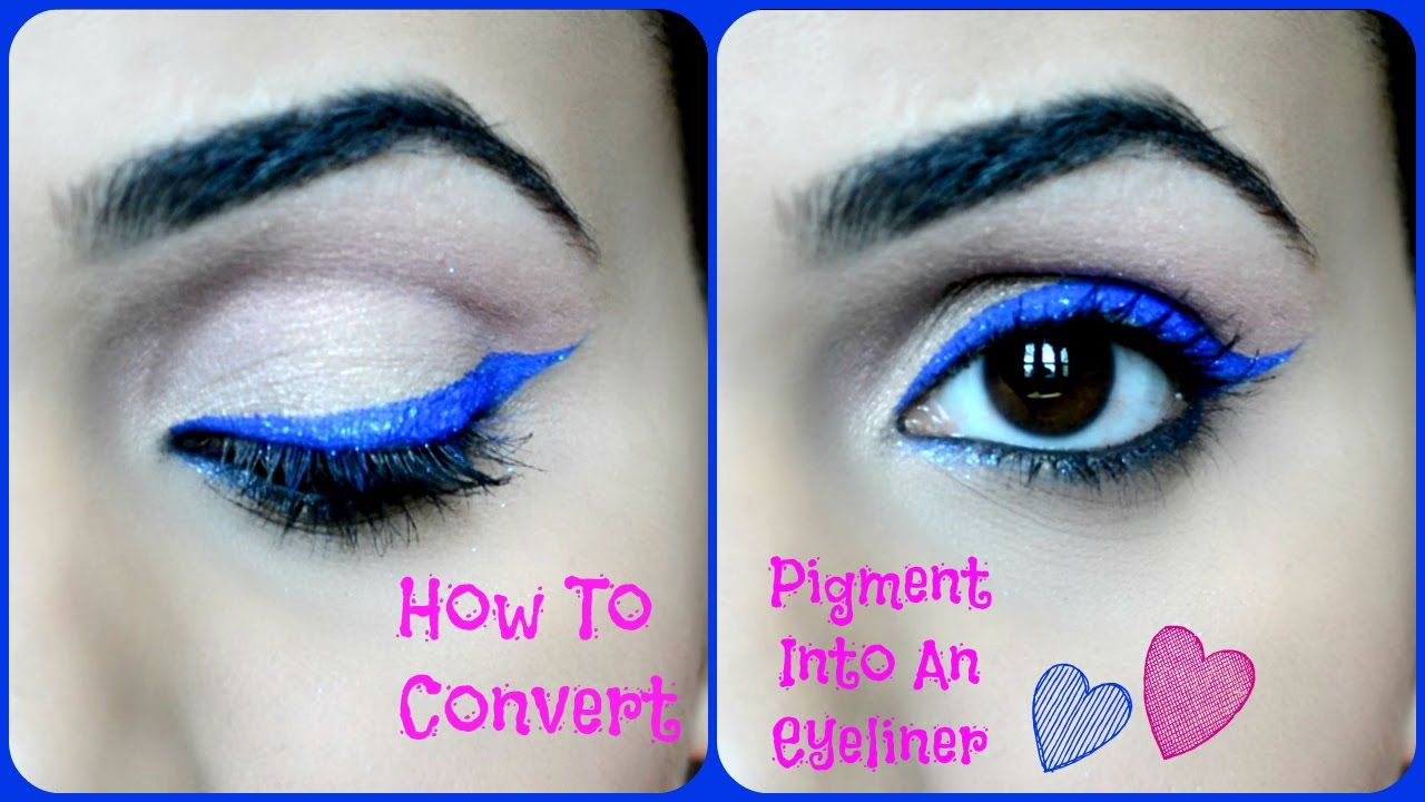 How to convert your pigment into an eyeliner simple eye