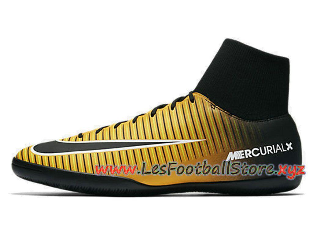 newest 87fd6 f9352 Nike Mercurialx Victory Vi Dynamic Fit Ic Chaussure De Football En Salle  Pour Homme Jaune Noir