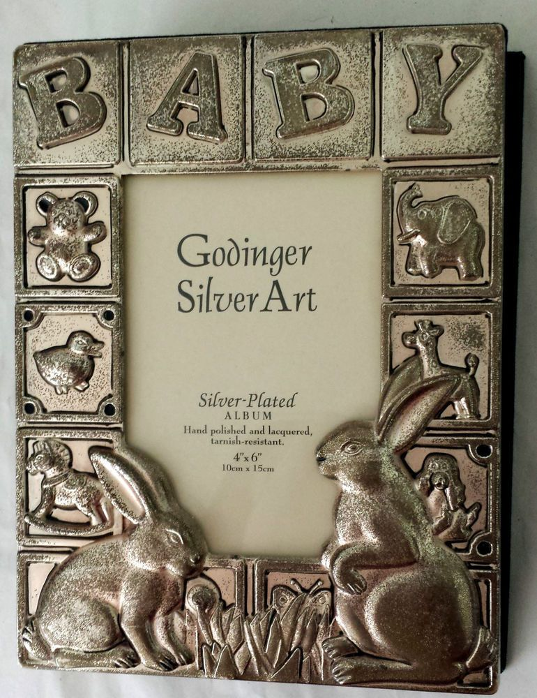 Baby Photo Album Godinger Silver Art 4x6 Silver Plated 100 Pictures