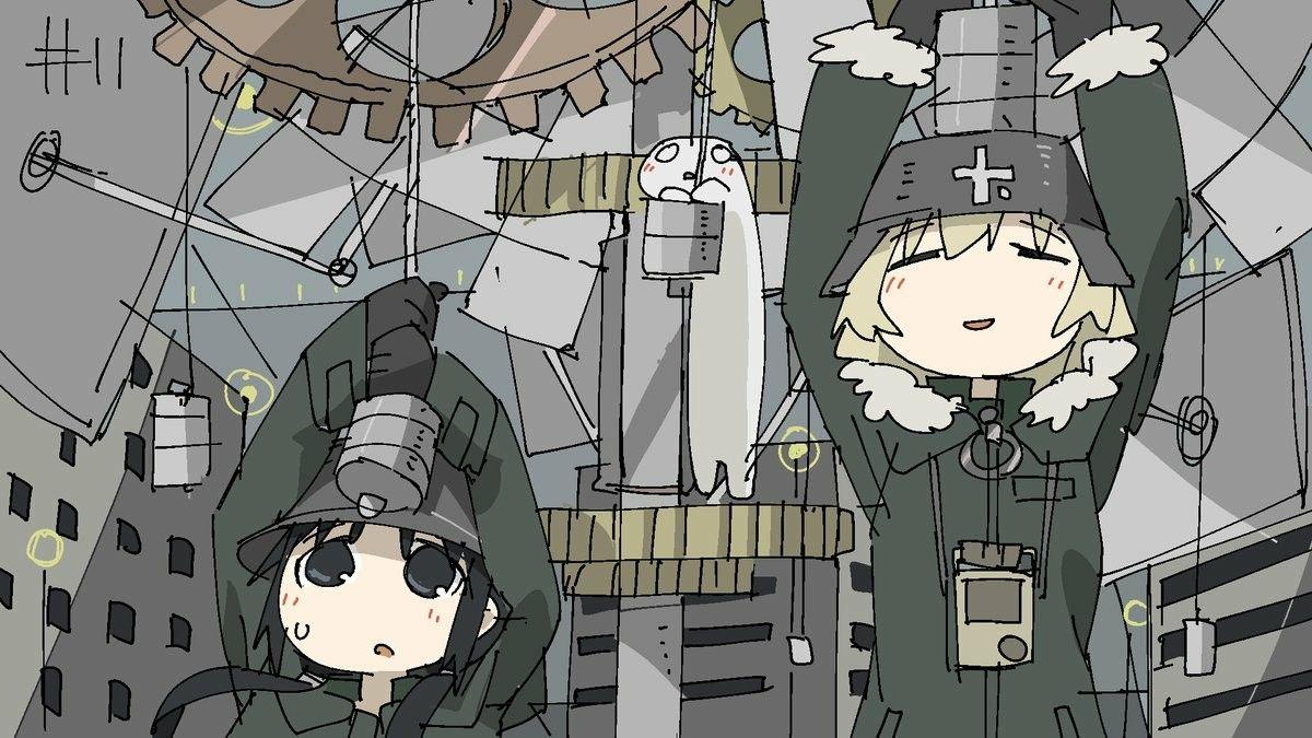 つくみず Tkmiz Shoujo Shuumatsu Ryokou Girls Last Tour Anime Wallpaper Aesthetic Anime Art