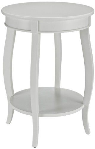 Target Powell Round Table With Shelf   Assorted Colors. White Two Tier  Accent ...