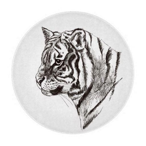 tiger glass cutting board