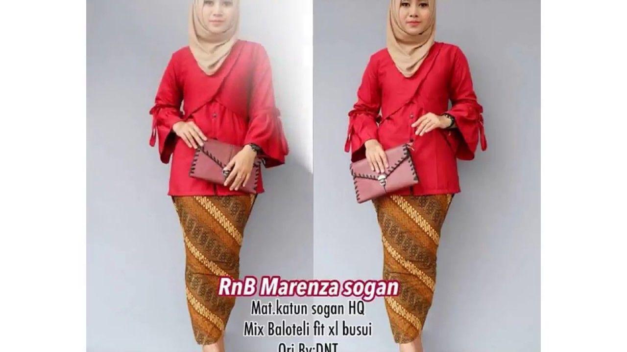 kebaya modern atasan polos bawahan batik kombinasi model batik wanita  terbaru modern blus atasan bawahan elegan 0c246b54a0