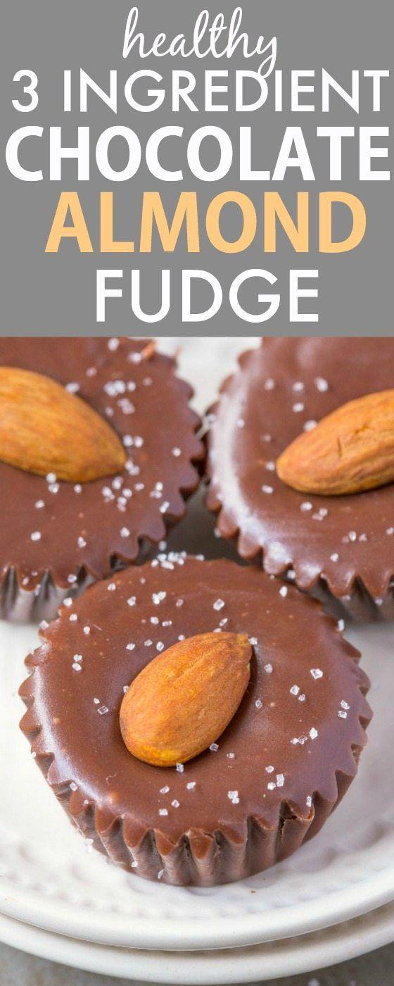 Healthy Three Ingredient Chocolate Almond Fudge Smooth