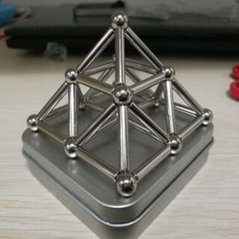 27pcs steel balls with 36pcs sticks neodymium