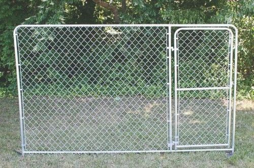 Spsfence Dks21006 Gate Panel 10 Ft Length X 6 Ft Height Steel Silver Galvanized Chain Link Fence Gate Fence Gate Chain Link Fence