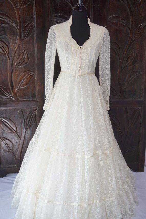 Vintage Ivory Gunne Sax Jessica Mcclintock Wedding Dress Size 9