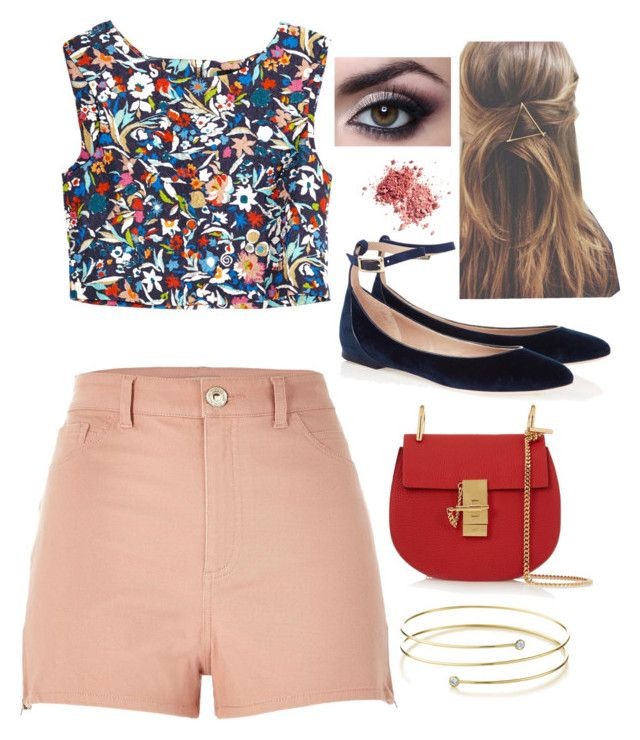 """""""growin' up and fallin' in love"""" by erosehunter ❤ liked on Polyvore featuring Saloni, Chloé, River Island and Elsa Peretti"""