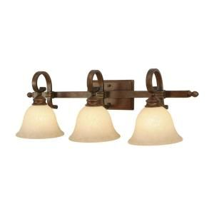 Illumine 3 Light Bath Fixture Tea Stone Glass Champagne Bronze Fini Bronze Bathroom Light Fixtures Modern Bathroom Light Fixtures Traditional Bathroom Lighting