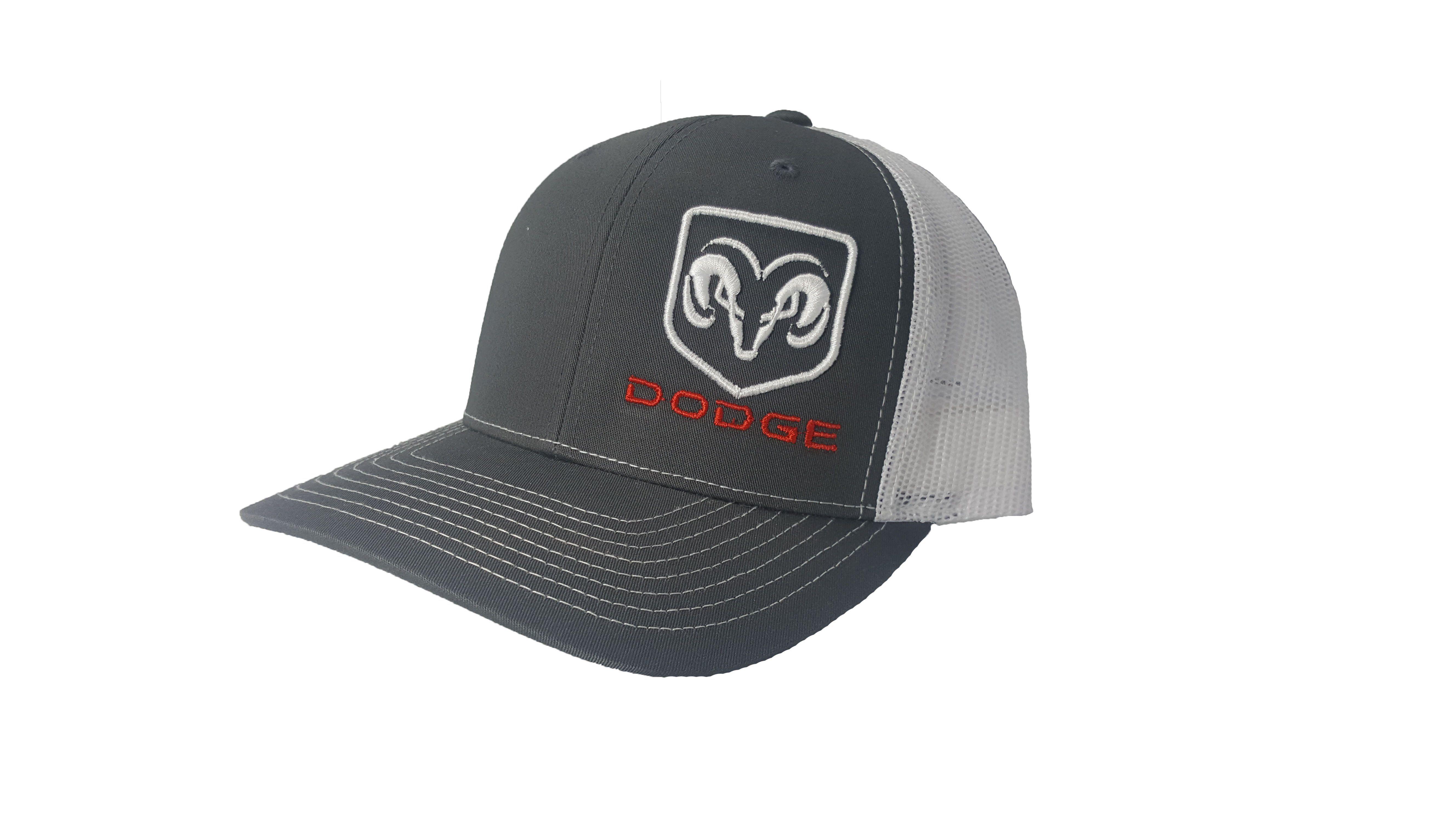6a02fb6d83dcc5 Richardson 3D Puff Dodge Ram Logo Snapback Hat, Trucker Cap, Adjustable Custom  Hat for both Women and Men