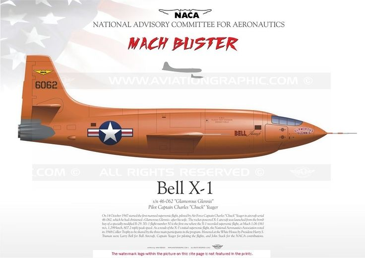 UNITED STATES AIR FORCE : Manufacturer: Bell / Model: X-1 / Serial s ...